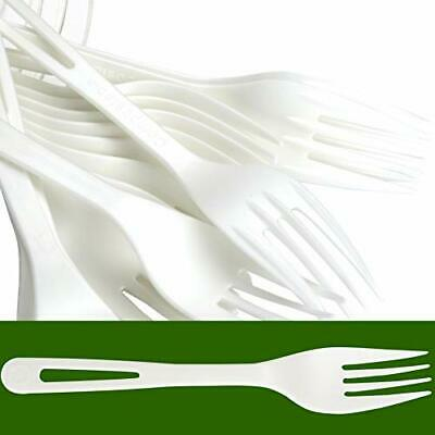 Biodegradable Forks Made From Non-GMO Plant-Based Plastic 100 Pack. (100)