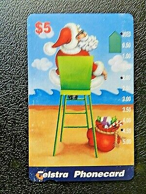 $5 Santa Claus Christmas Telstra Phonecard