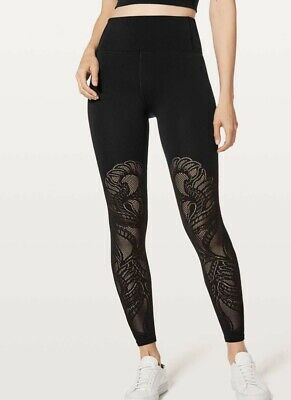 Lululemon Size 10 (aust 14) Reveal Tight 7/8 New With Tags Black
