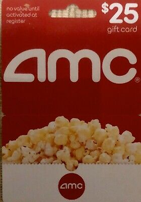 Amc Movie Gift Card $25 No Expiration Date Can Be Used Nationally!!