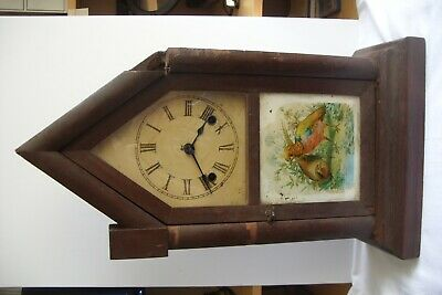 Antique Ansonia Steeple 8 Day Striking Mantle Clock.