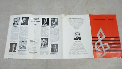 1959 Victorian Symphony Orchestra Programme Subscription Information, Musician