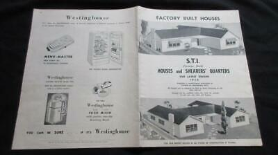 1950's Circa Factory Built Houses and Shearers Quarters Advertising Household P