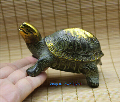 Collection Old Chinses Bronze Gild Handwork Turtle Statue
