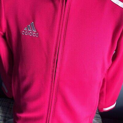 Adidas Bright pink miTeam T19 Girls jacket age 7-8 yrs