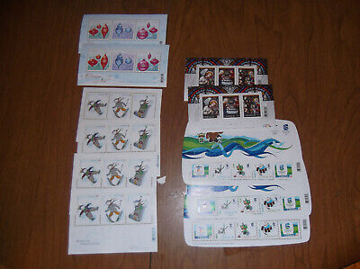 lot of 11   blocks 14 permanent stamps + $32.63 face