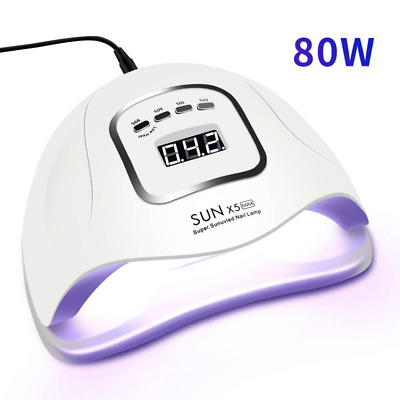 SUN 5X MAX 80W UV LED Nail Lamp with 45 Pcs Leds For Manicure Gel Nail Dryer