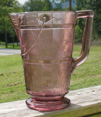 """Eapg """"Wooden Pail""""/""""Bucket"""" Large Tall Amethyst Tankard Style Water Pitcher"""