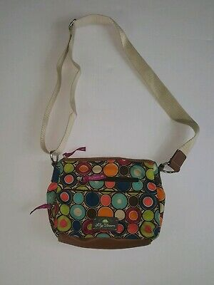 Lily Bloom Purse Multi Colored Circles Shoulder Bag Handbag Recycled Crossbody