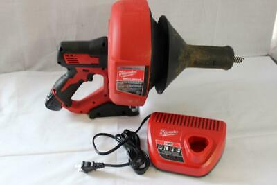 Milwaukee 2571-20 M12 12V Lithium-Ion Cordless Auger Snake Drain Cleaning Kit