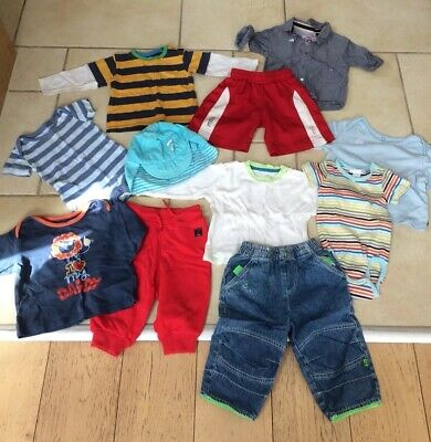 Lovely mixed boys bundle age 6-12m inc Next, H&M & M&S (11 items total)