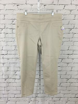 Style & Co NEW Women's Size 18 Beige Wide Hip Mid-Rise Khaki Pants NWT