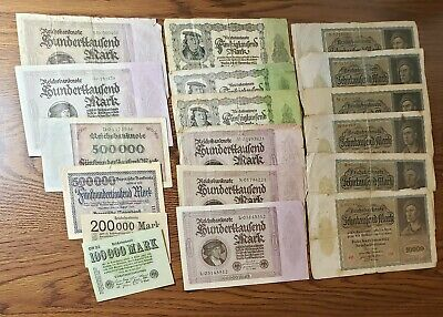 Germany Banknotes Papermoney Lot of 18