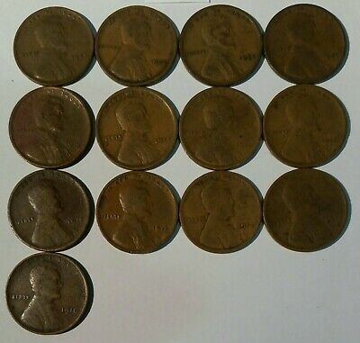 1910/1924 USA Lincoln Wheat Cent Pennies See Description For Dates