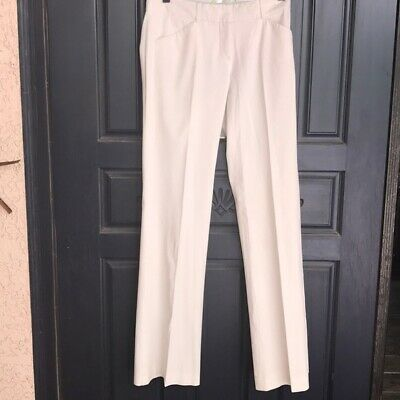 THEORY White Polished Cotton Dress Pants / Trousers size 0 - XS