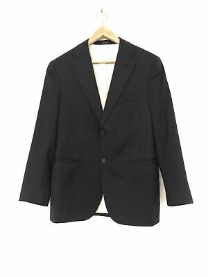 Suitsupply Men Napoli Two Button Suit Blazer Jacket Pure Wool 110's Navy Size 24