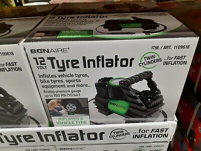 Bon Aire Tyre Inflator Air Compressor Twin Cylinder for fast inflation