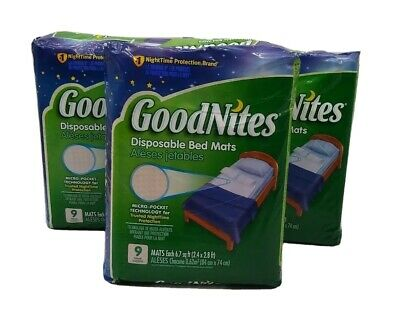 GoodNites Disposable Bed Mats, 9 Count (lot of 3, 27 total count)