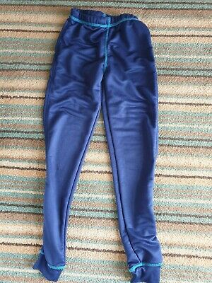 Excellent Condition Crane Navy Blue Leggings Age 9-10 Years