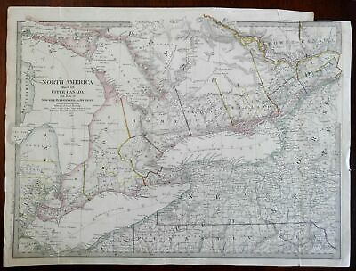 Upper Canada Great Lakes New York Niagara c. 1840 SDUK detailed oversize map
