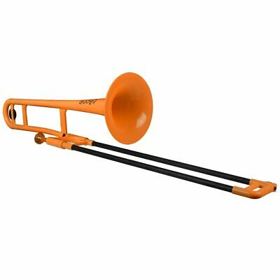 pInstruments Jiggs pBone-Plastic Trombone-Orange, (PBONE1OR)