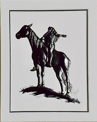 Original APPEAL TO THE GREAT SPIRIT Western Lithograph Indian Print 1920s NOS