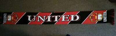 """7 x Manchester United Football Scarfs...""""UNITED""""...New"""