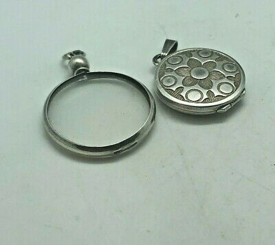 Antique Art Deco Pendant & Locket  Silver Rare Collectable Stylish 1920S