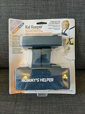 Mommys Helper Kid Keeper SAFETY HARNESS Baby Child Toddler Leash Straps Blue