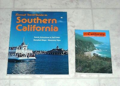 Lot of Vintage 1970's California Books Sunset Travel Guide Southern Cali Retro