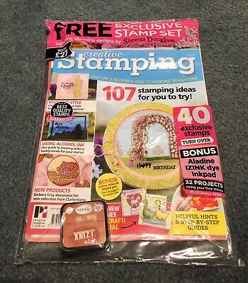 Creative Stamping Magazine Issue 58. With Free Stamp Set And Ink Pad