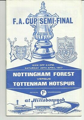 NOTTINGHAM FOREST v TOTTENHAM HOTSPUR FA CUP SEMI-FINAL 29/04/1967