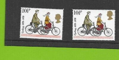 Gb Stamp Error 1978 Mnh Sg 1068 Dropped Queens Head / Shift Gold Colour