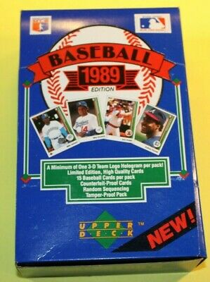 1989 Upper Deck Wax Pack Box-Low Series-36 Packs-What if 36 Griffey Rookie Cards