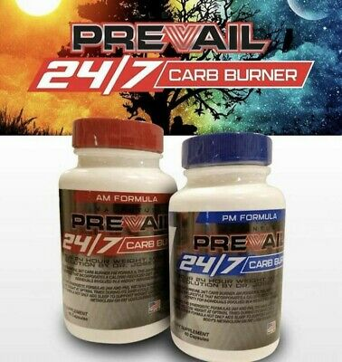 Valentus Prevail 24/7 Weight Loss- Carb Burners - 1 Months Supply - AM/PM
