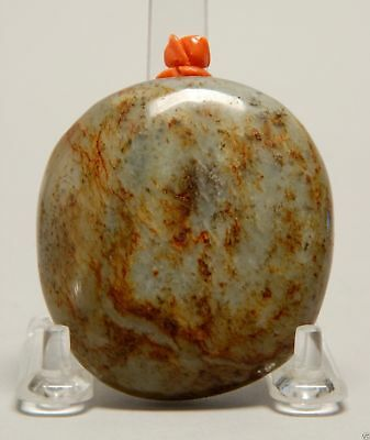 S007 Antique Estate Chinese well-carved jade snuff bottle 20th Century