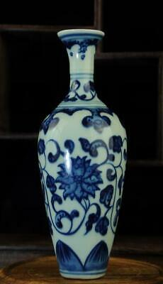 china old hand-made blue and white porcelain Hand-painted flower vase 03Bb01C