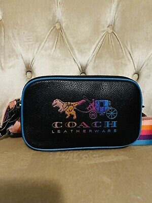 NWT COACH 88776 Rexy and Carriage Small Double Zip Sadie Crossbody Bag Black New