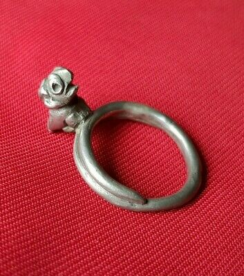 Amazing ANCIENT CELTIC SILVER RING - MITHOLOGICAL CREATURE FIGURE