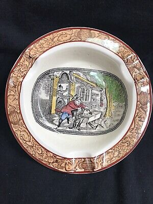 "Vintage ADAMS Ironstone 5"" Ashtray Dunking In The Horse Trough"