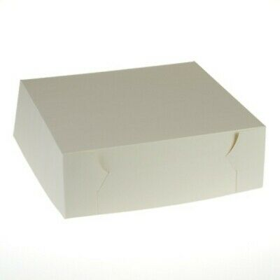NEW White Cardboard Pastry Cartons - 305mm - 100mm - 100 - Kent Paper