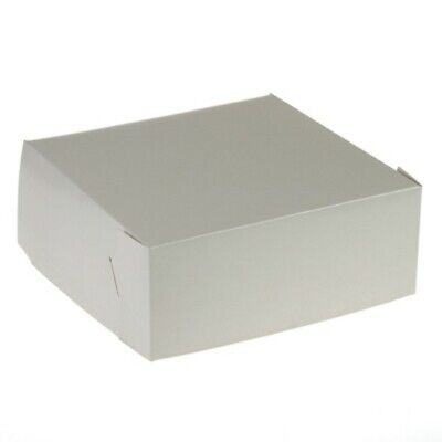 NEW White Cardboard Pastry Cartons - 255mm - 100mm - 100 - Kent Paper