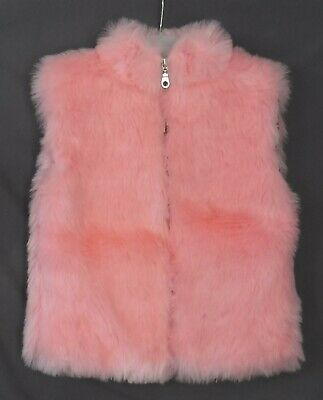 Girls Their Nibs Gorgeous Pink Faux Fur Gilet Body Warmer Party Jacket Age 3-4