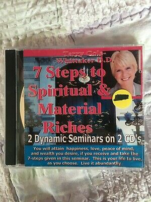 """Terry Cole-Whittaker """"7 Steps to Spiritual & Material Riches""""  2 Seminars 2 CDs"""