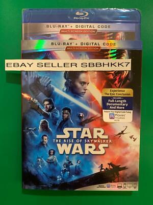 STAR WARS THE RISE OF SKYWALKER  BLU-RAY+DIGITAL HD&Slipcover MULTISCREEN 2 DISC