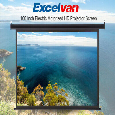 100'' 16:9 1.2 3D 4K Electric Motorized Projector Screen Home Cinema Theater UK