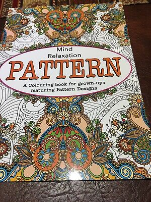 Mind Relaxation Colouring Book Stress Relieving Patterns & Designs Art Therapy