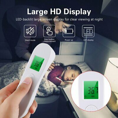 Digital Non-Contact Infrared Forehead Thermometer Hand-Held Human Body Temp MD