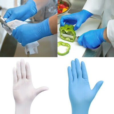 20/100X Lot Disposable Latex Gloves Dishwashing Kitchen Safety Protective Gloves