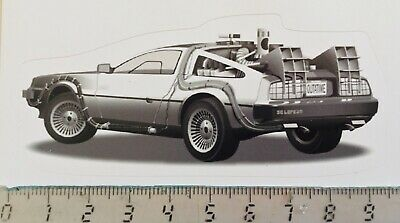 Sticker / Aufkleber, De Lorean Back to the Future, Heckansicht